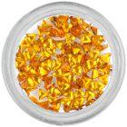 Yellow rhinestones, triangle