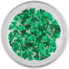 Emerald green rhinestones for nails - triangle