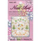3D Christmas nail sticker - MERRY CHRISTMAS