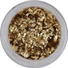 Small glitter flakes – gold-brown