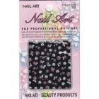 3D nail art sticker - flowers, butterflies