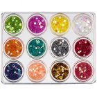 Flowers - nail art set, 12pcs