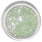 Nail Decorations with Pearl Effect - Light Green Hearts