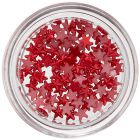 Red Stars for Nail Decoration, Pearlescent