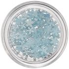 Nail Art Light Blue Decoration - Flowers, Pearlescent