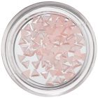 Pearlescent Nail Decorations - Soft Pink Triangles