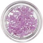 Purple Triangles for Nail Decoration, Pearlescent