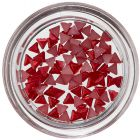 Triangles for Nail Decoration - Red, Pearl Effect