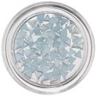 Light Blue Nail Art Decorations - Triangles, Pearlescent