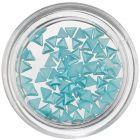 Pearl Nail Decorations - Turquoise Blue Triangles