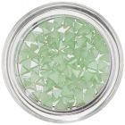 Pearl Decorations in Shape of Triangle - Light Green