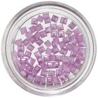 Purple Squares for Nail Decoration, Pearlescent