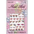 Valentine 3D nail art sticker - hearts, cupid, flowers