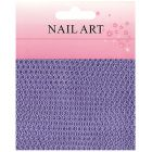 Nail art - purple netting