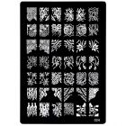 XL plate in A5 size designed for stamping nail art, 024