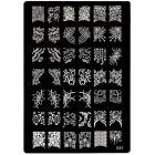 Stamping nail art template with engraved motifs  - 021, XL