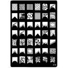 Stamping nail art template with engraved motifs - 016, XL